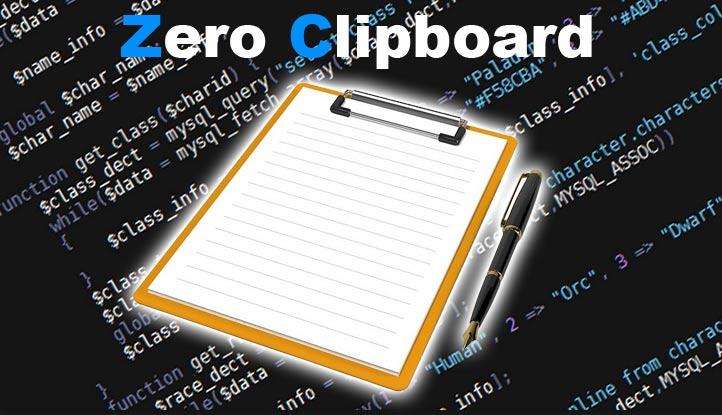 Zero Clipboard